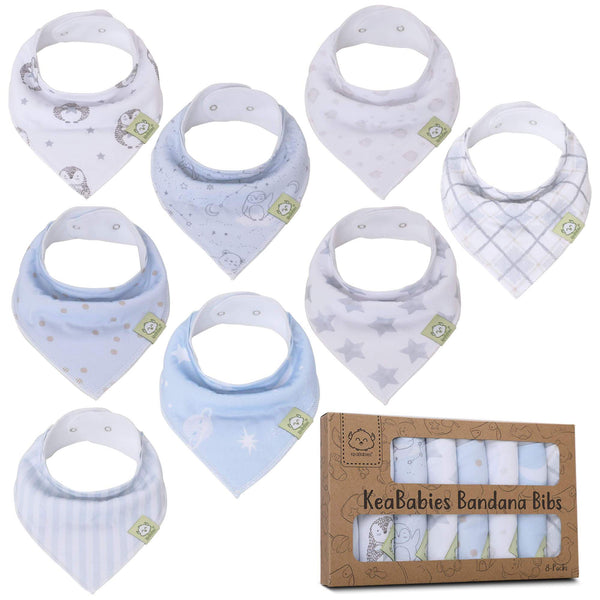 Organic Cotton Bandana Bibs - Constellation