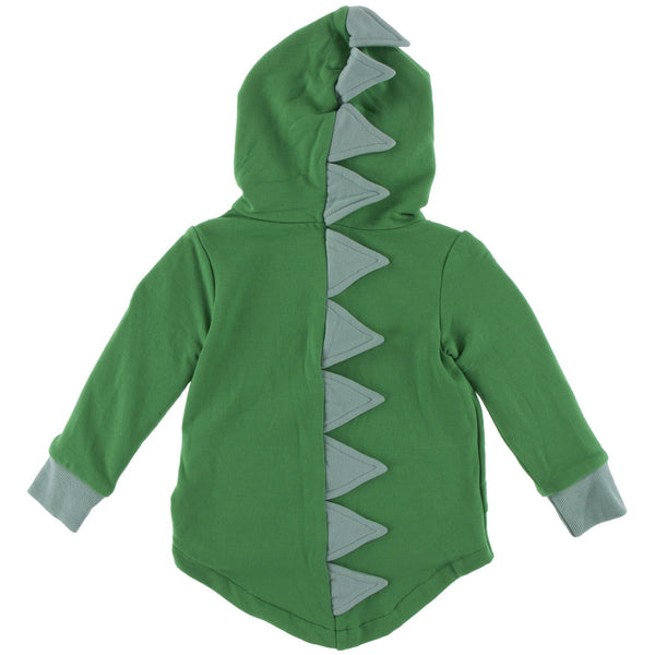 Solid Fleece Dino Hooded Jacket - Fern