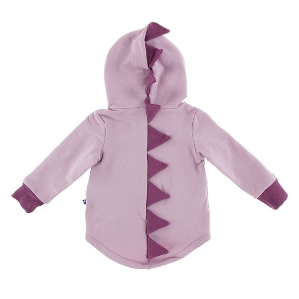 Solid Fleece Dino Hooded Jacket - Sweet Pea