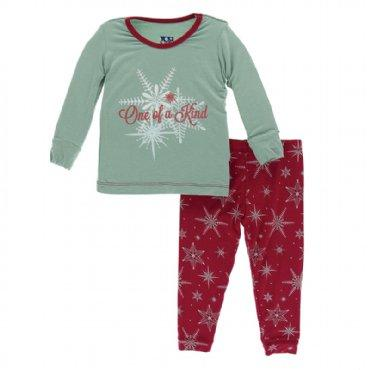 Long Sleeve Pajama Set - Crimson One of a Kind