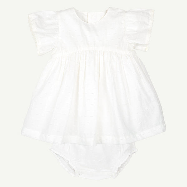 Woven White Dress Set