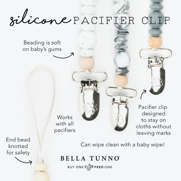 Silicone Solid Color Pacifier Clip (Various Colors)