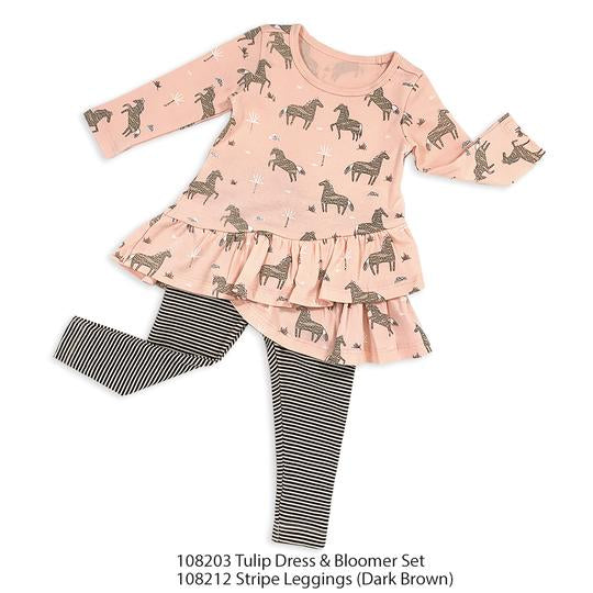 Wild & Free Horse Tulip Dress and Bloomers