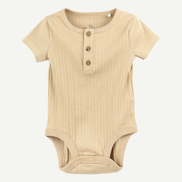 Khaki Short Sleeve Bodysuit