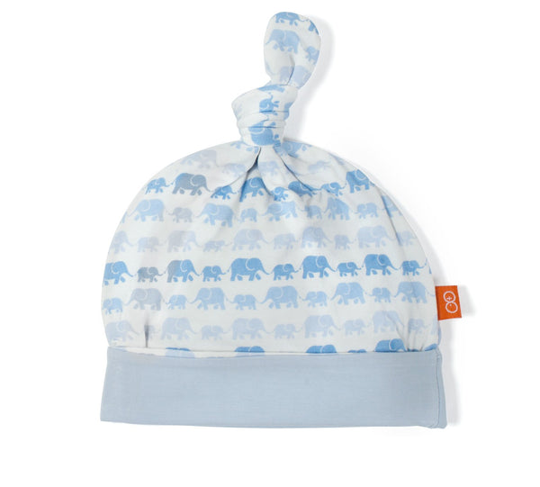 Modal Hat - Blue Dancing Elephants