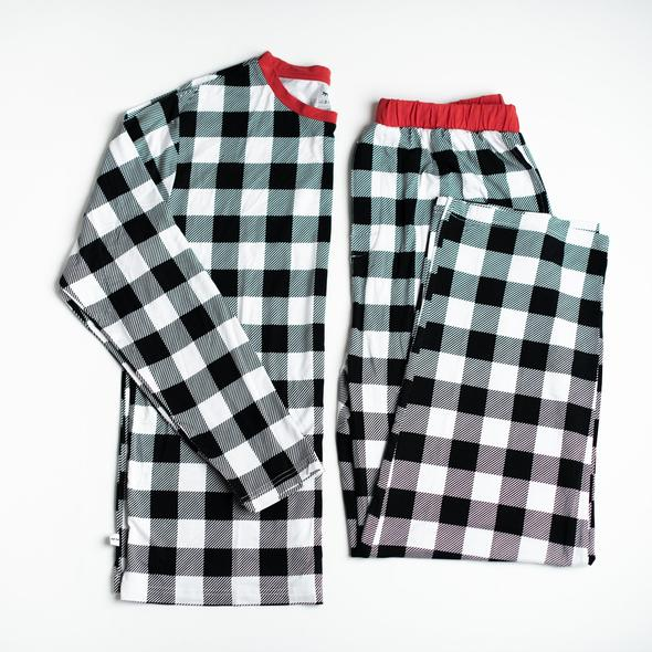 Men's Two Piece Pajama Set - Buffalo Plaid