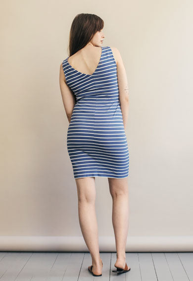 Simone Sleeveless Dress - Country Blue/Tofu