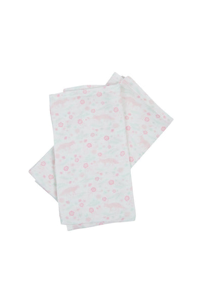 Organic Cotton Muslin Burp Cloth Set - Meadow Fox