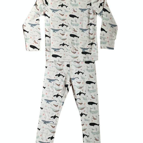 Under the Sea/Whale Two Piece Pajama Set