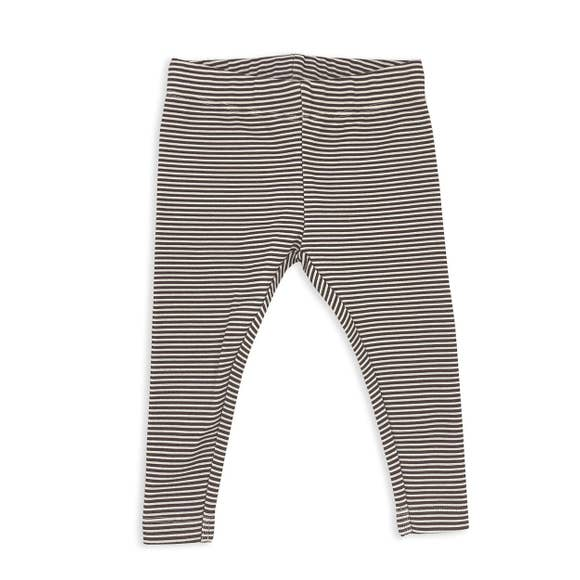Organic Cotton Leggings - Brown Stripe