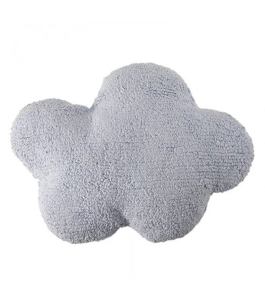 Washable Cloud Cushion - Light Blue