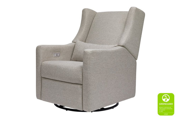Kiwi Electronic Recliner and Swivel Glider in Eco - Performance Fabric - Grey