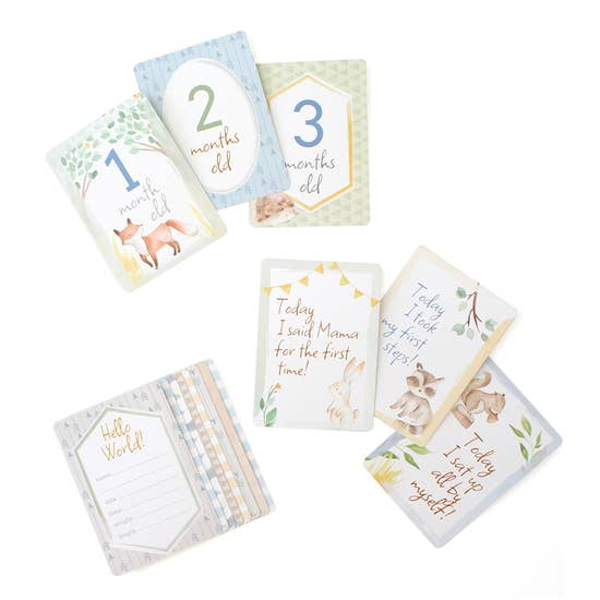 Itzy Moments Milestone Cards - Woodland