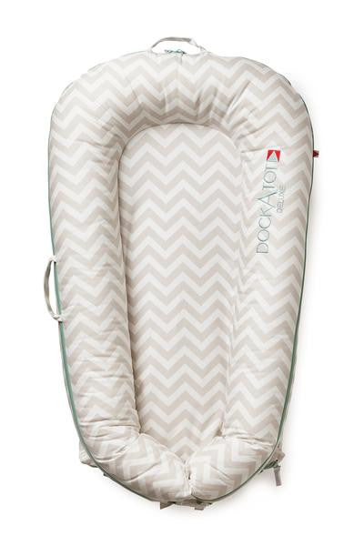 DockATot Deluxe Cover - Silver Lining (Chevron)