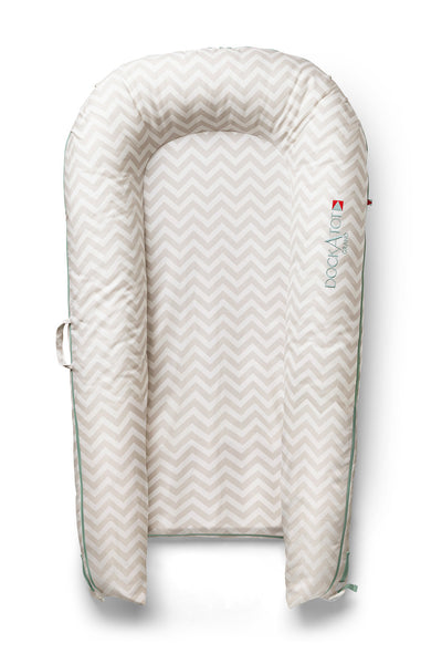 DockATot Grand Cover - SILVER LINING - CHEVRON