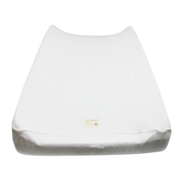 Organic Knit Terry Changing Pad Cover - White