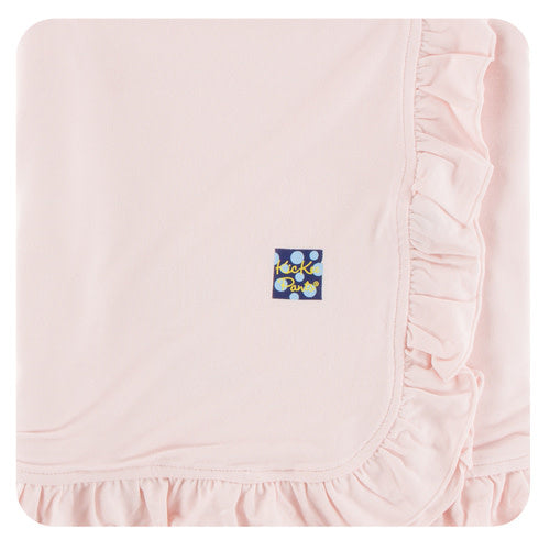 Solid Ruffle Stroller Blanket - Various Colors