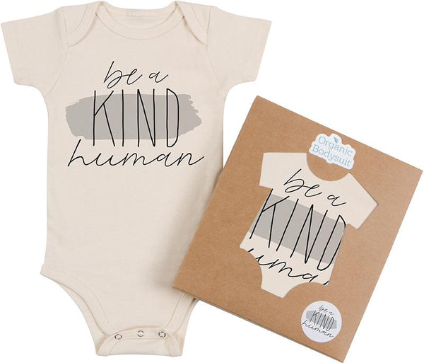 Be a Kind Human Long Sleeved Organic Onesie