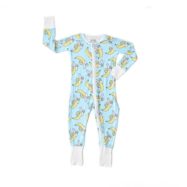 Bamboo Zip Romper/Sleeper - Bananas