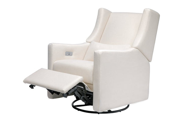 Kiwi Electronic Recliner and Swivel Glider in Eco - Performance Fabric - Cream