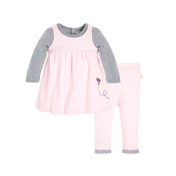 Organic Baby Dress and Pant Set - Blossom