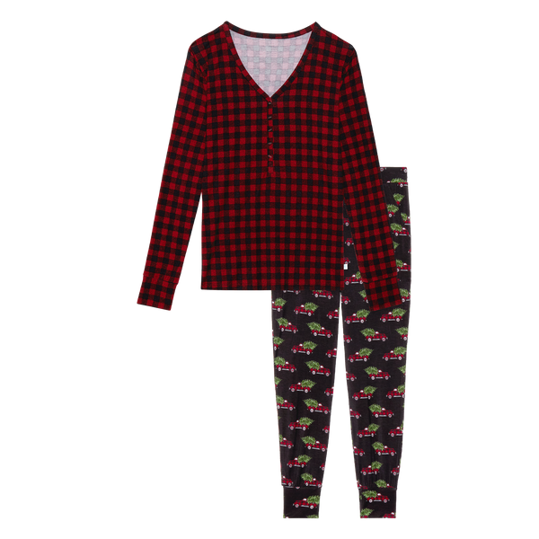 Women's Long Sleeve Pajama Set - Levi