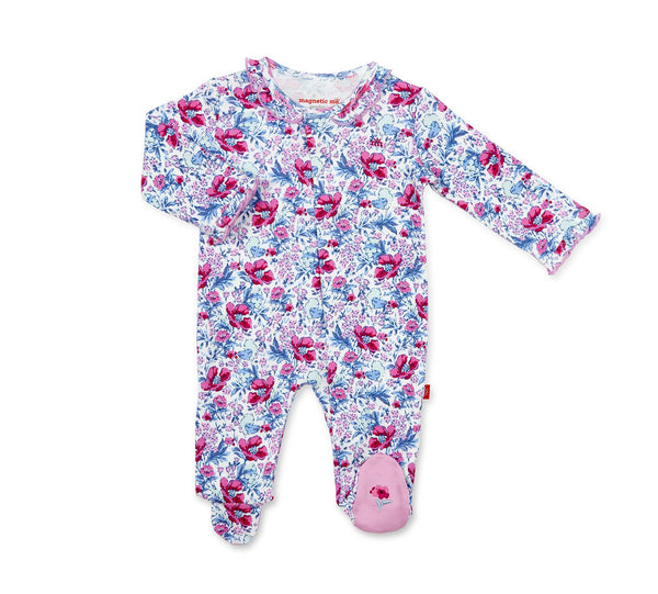 Organic Cotton Magnetic Footie - Darlington Floral