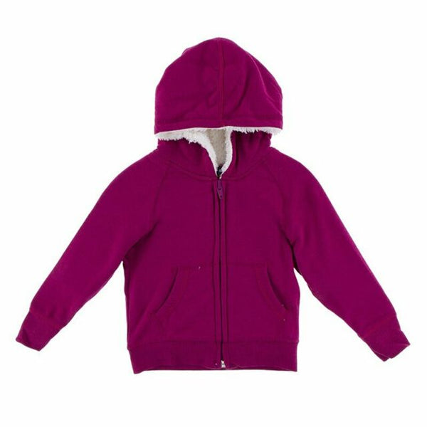 Fleece Zip - Front Hoodie with Sherpa Lining - Various Colors
