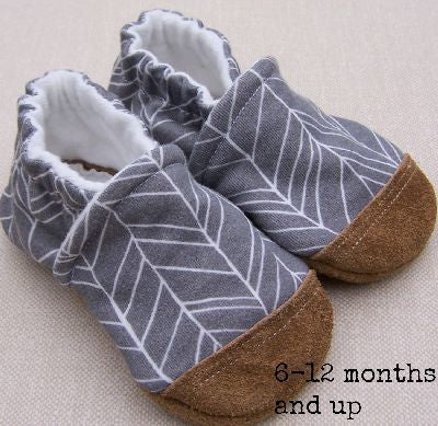 Organic Cotton Knit Slippers - Grey Feather
