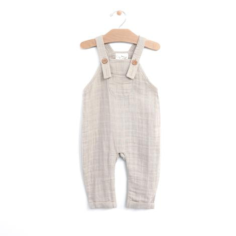Organic Muslin Pocket Overall - Rain Cloud