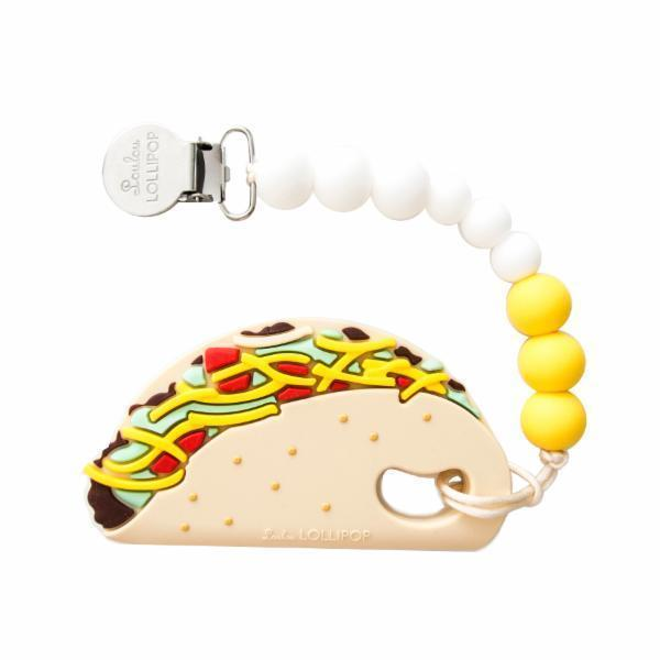 Silicone Teether With Clip - Taco
