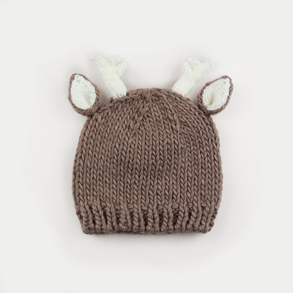 Hartley Deer Tan Knit Hat