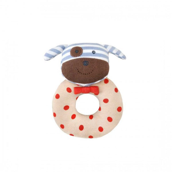 Organic Teething Rattle - Boxer Dog