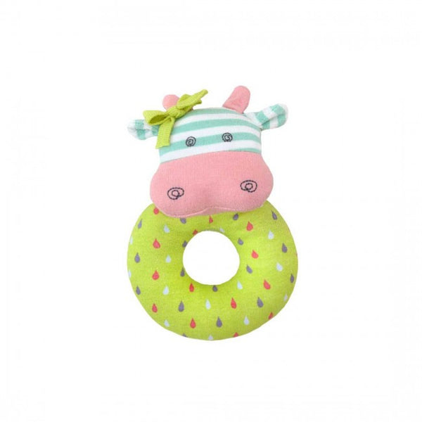Organic Teething Rattle - Belle Cow