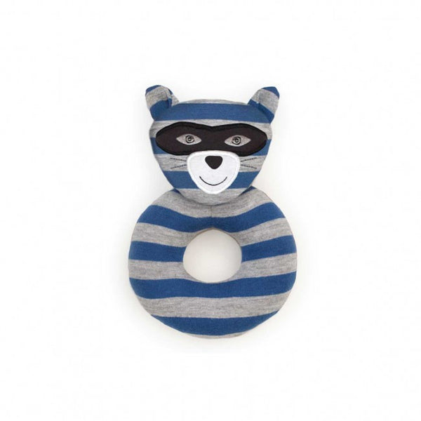 Organic Teething Rattle - Robbie Raccoon
