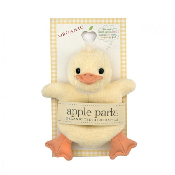 Organic Teething Rattle - Duck