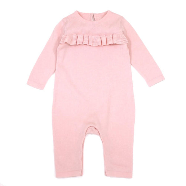 Milan Ruffle Coverall - Blush
