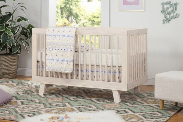 Hudson 3 in 1 Convertible Crib - Washed Natural