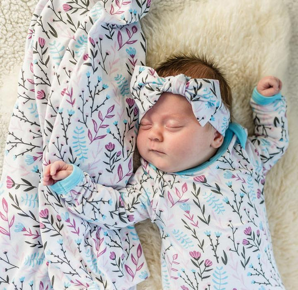 Bamboo Swaddle Blanket - Wildflowers