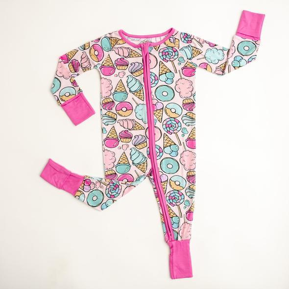 Bamboo Zip Romper/Sleeper - Sweet Treats