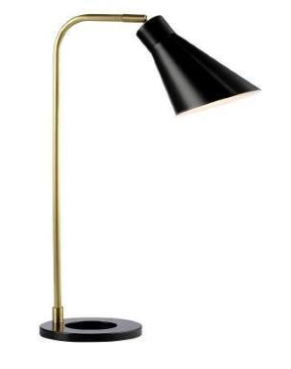 Brass and Black Desk Lamp