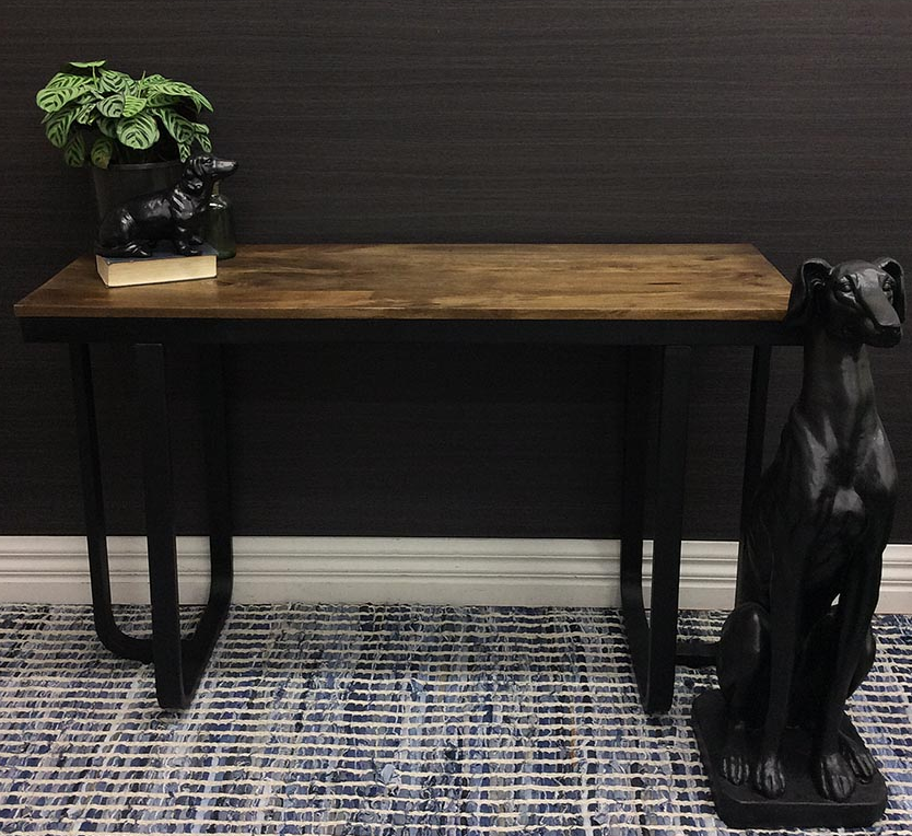 Timber top console table