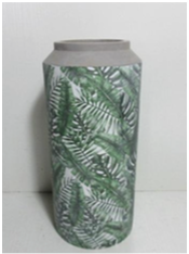 Leaf Patterned Cement Vase 300mm