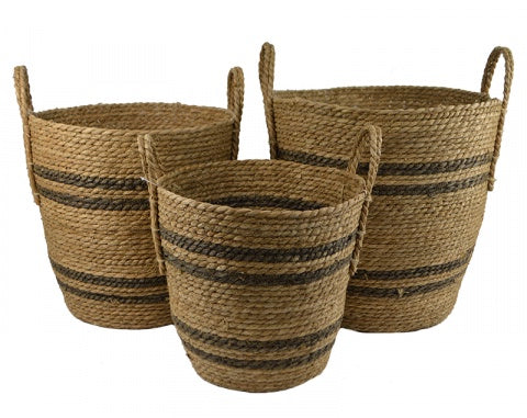 Natural Seagrass with Stripes & Handles