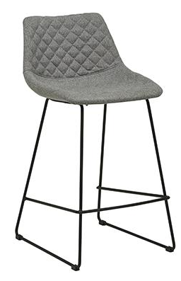 Grey Upholstered Barstool