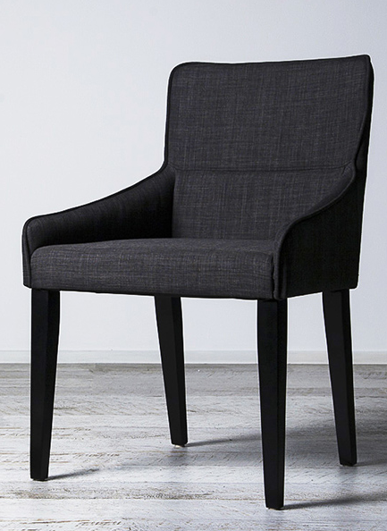 Grey Upholstered Dining Chair