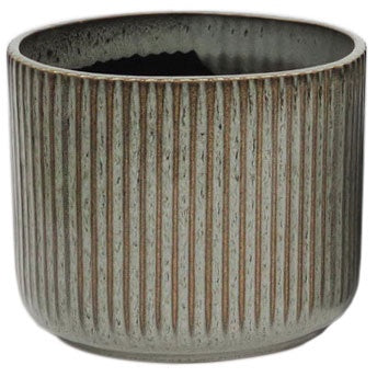 Ribbed Grey Ceramic Planter Medium