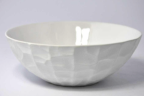 Matte White Ceramic Textured Bowl - Medium