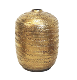 Brass Ceramic Vase Large