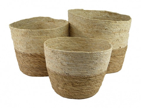 Natural Seagrass Light & Dark Dip Baskets